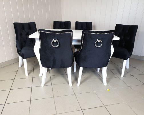 Krzesło BARI BLACK z kołatką